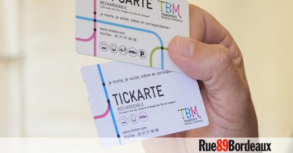 Carte Tbm Bordeaux.Les Cartes Tbm Seront Sans Contact Mais Pas Sans Frais Rue89 Bordeaux