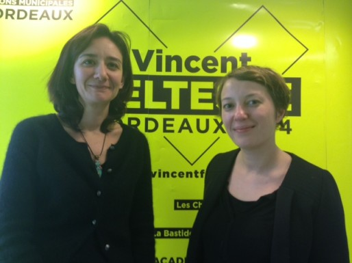 Emmanuelle Fourneyron et Emmanuelle Lapeyre, en charge de la communication du candidat Feltesse (DR)