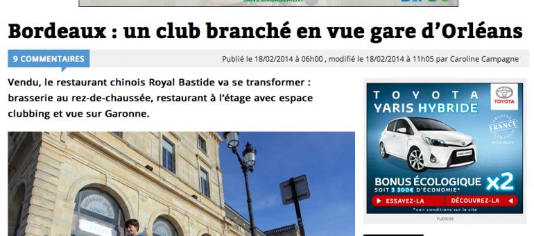 Bastide : un club branché arrive en gare d'Orléans