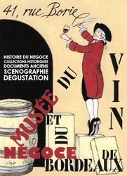 Affiche du Musée du vin et du négoce de Bordeaux, vitrine de l'art local (DR)