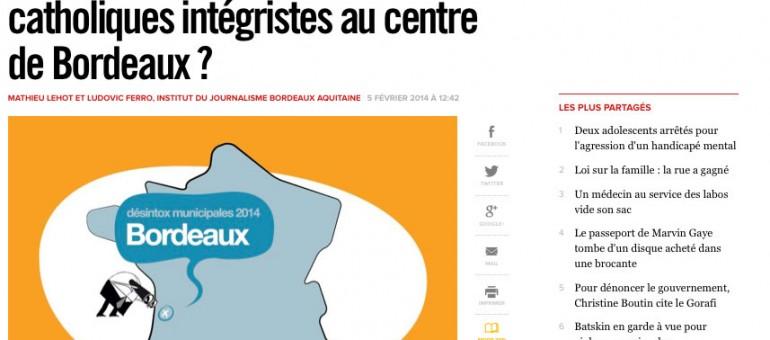 Juppé a-t-il favorisé des catholiques intégristes à Bordeaux?