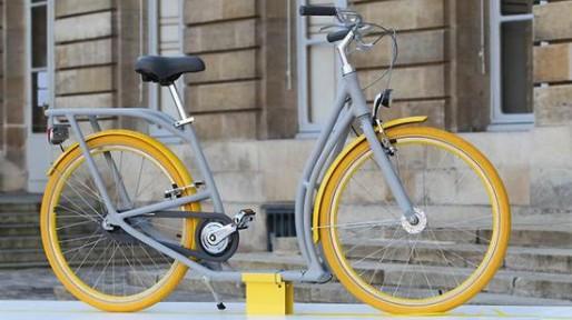 Le vélo Pibal lors de sa présentation au Palais Rohan (photo Bordeaux.fr)