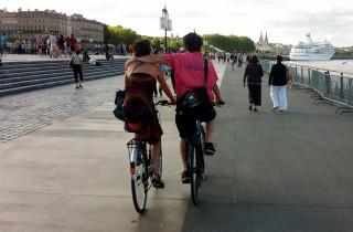 Dans le centre de Bordeaux, 8% des déplacements se faisaient à vélo en 2009, probablement plus de 10 % aujourd'hui. (WS/Rue89 Bordeaux)