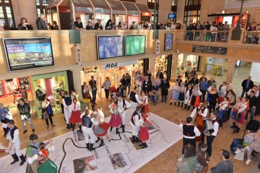 A la gare Saint-Jean, vernissage de l'exposition (photo Frédéric Desmesure)
