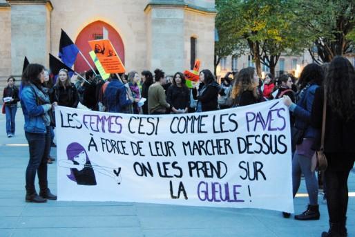 Manifestation du collectif féministe CLEF, en 2014 (WS/Rue89 Bordeaux)