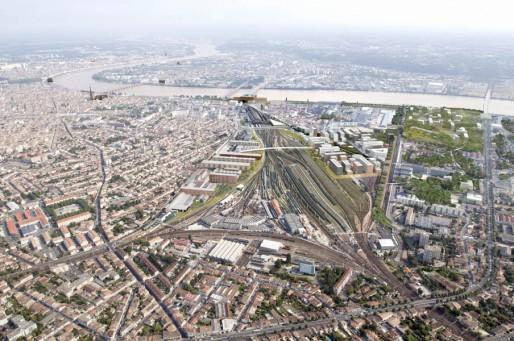 Vue aérienne de l'Opération d'Intérêt National Bordeaux Euratlantique (DR)