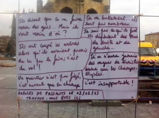 Paroles de passants sur la place Saint-Michel (Walid Salem/Rue89 Bordeaux)