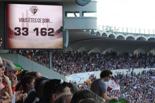 Alors que Chaban fait régulièrement le plein (34000 spectateurs) pour le rugby, sa jauge sera baissée à 25000 spectateurs (WS/Rue89 Bordeaux)