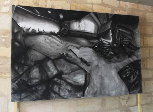 """""""Rincones"""", fusain sur toile, 190 x 300 cm (DR)"""