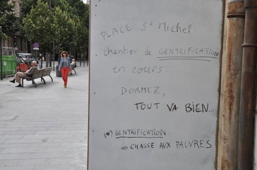 """Les graffitis dénonçant la """"gentrification"""" jalonnent le quartier (Xavier Ridon/Rue89 Bordeaux)"""