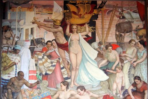La Bourse du travail : La gloire du port de Bordeaux de Camille de Buzon (WS/Rue89 Bordeaux)