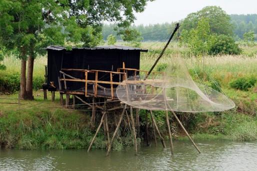 Un carrelet près de Langoiran, en Gironde (WS/Rue89 Bordeaux)