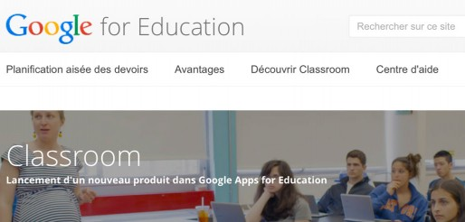 Capture écran Google Education