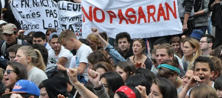 Manifestations contre le Front National à Bordeaux