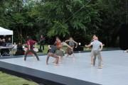 Les passagers assistent finalement à un spectacle de danse (Yb / Rue89 Bordeaux)