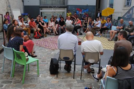 La Palabre #0, dans la cour du Café Pompier (WS/Rue89 Bordeaux)