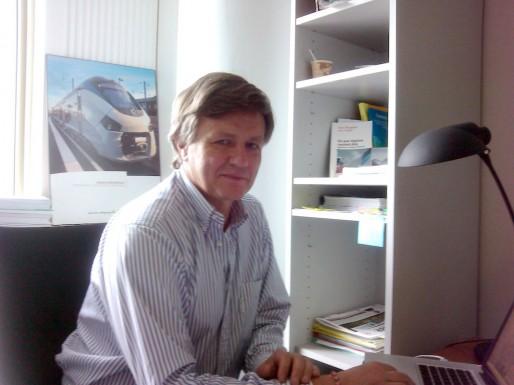 Patrick du Fau de Lamothe, conseiller régional (Aquitaine Ecologie) et membre de TransCub (Photo SM/rue89 Bordeaux)