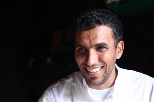 Ahmed est le premier à s'être installé dans un wagon à Belcier (Marie Udu/Rue89 Bordeaux)