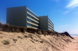 La résidence du Signal, à Soulac, a été évacuée, et doit être démolie cette année (Photo Walid Salem/Rue89 Bordeaux)