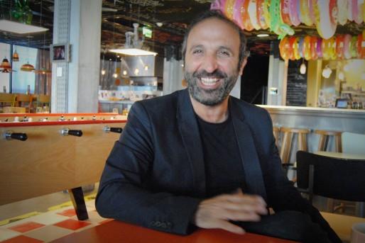 Youssef Tohmé, régulièrement de passage à Bordeaux, pour la préparation d'Agora et le lancement des travaux à Brazza (WS/Rue89 Bordeaux)