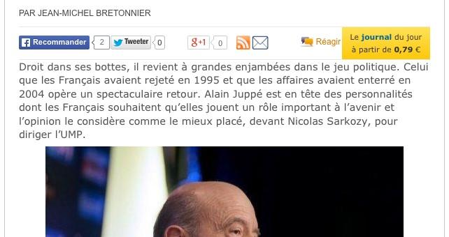 Le retour d'Alain Juppé autrefois mal-aimé