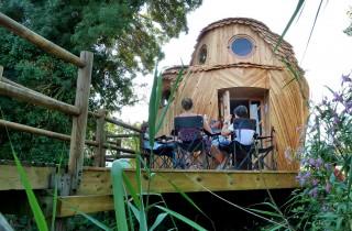 """Le refuge """"Les Guetteurs"""" au parc des Rives d'Arçins à Bègles (Bruit du Frigo)"""