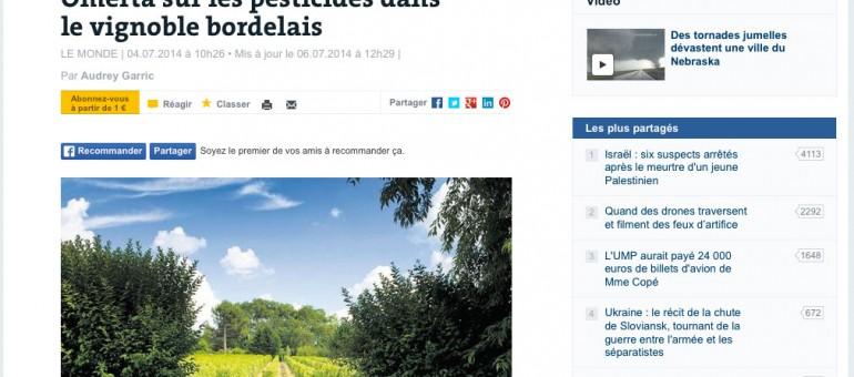 Les pesticides dans le vignoble bordelais entre déni et fatalisme