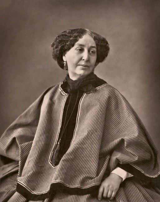 George Sand photographiée par Nadar en 1864 (DR)