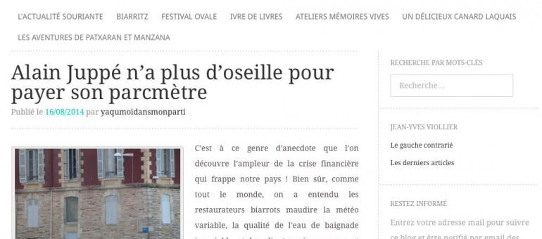Deux places de stationnements réservées à Biarritz pour Alain Juppé