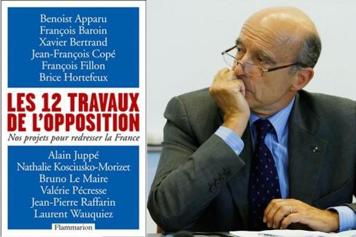 Montage : la couverture du livre et Alain Juppé (DR)