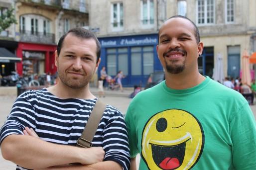 Gwenaël Massé et Laurent Andriamifidy (Rue89Bordeaux/Yoann Boffo)