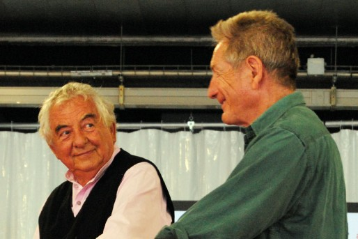 Daniel Buren et Gilles Clément (WS/Rue89 Bordeaux)