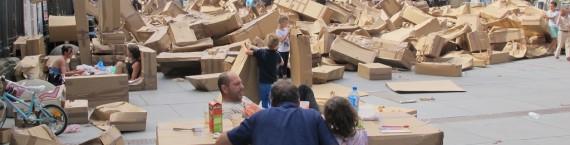 La place Pey-Berland après destruction de la ville éphémère (Photo SB/Rue89 Bordeaux)