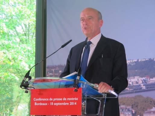 Alain Juppé à l'Hôtel de la CUB le 18 septembre 2014 (Photo SB/rue89 Bordeaux)