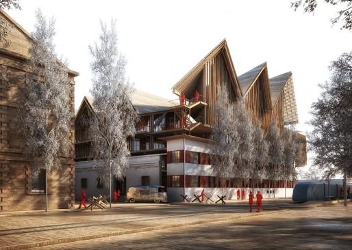 Le projet du cabinet d'architectes Nadau/Lavergne pour les Magasins Généreux (DR)