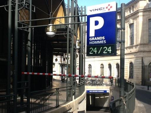 Le parking des Grands-Hommes géré par Vinci (WS/Rue89 Bordeaux)