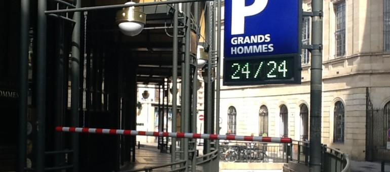 Vinci paiera plus de 200000 euros par an pour exploiter le parking des Grands Hommes