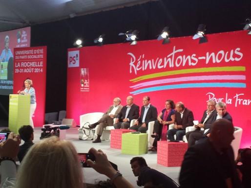 """Plénière """"Unité de la gauche"""" avec tous les partis de gauche, La Rochelle, 2014 (DR)"""