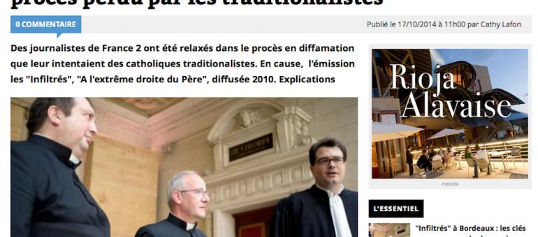 «Infiltrés» à Bordeaux: les traditionalistes déboutés