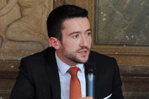 Fabien Robert lors de la présentation du DOC à la presse (WS/Rue89 Bordeaux)