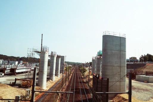 Le chantier de la ligne à grande vitesse Tours-Bordeaux (Guy Chaillou/flickr/CC)