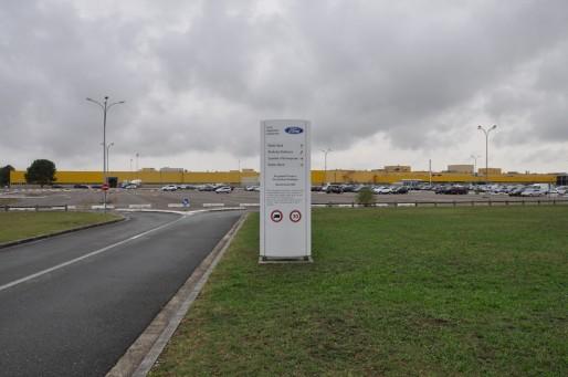 L'entrée de l'usine Ford Aquitaine Industries à Blanquefort (Xavier Ridon/Rue89 Bordeaux)