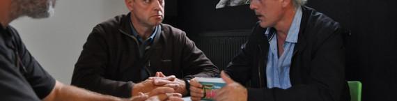 De gauche à droite : Pascal Bourgois, Gilles Lambersend, Philippe Poutou (Xavier Ridon/Rue89 Bordeaux)