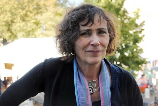 """Marie-Monique Robin à Alternatiba à Bordeaux pour une conférence sur le """"Bonheur national brut"""" au Bhoutan (WS/Rue89 Bordeaux)"""