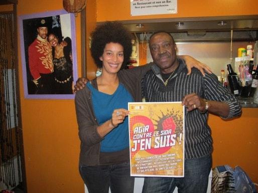 Sokhna Cauvin, de Aides, et Sim's, patron du maquis Tati Jeanne (SB/Rue89 Bordeaux)