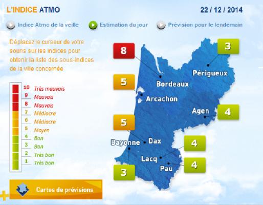 (Copie d'écran du site d'Airaq)