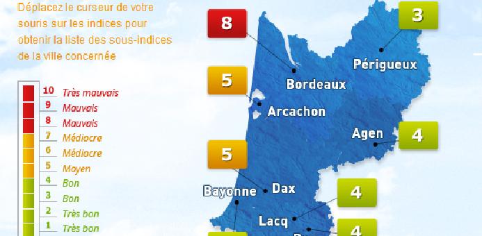 Noël en Gironde : des paillettes et des particules en suspension