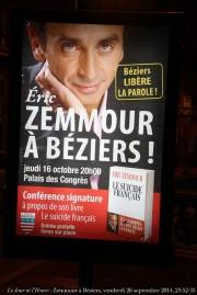 Affiche pour la conférence de Zemmour à Béziers (Renaud Camus/flickr/CC)