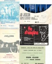 Quelques tickets d'entrée à des concerts à la Salle des fêtes du Grand Parc (DR)