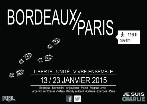L'affiche de la marche des lycéens bordelais (DR)